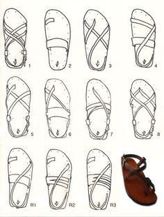Victor Powell's handmade, custom-fit sandals, out of Provincetown, MA! I will have a pair of these one day...