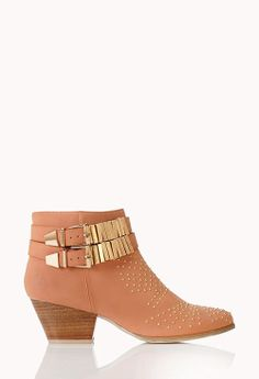 Peach Embellished Ankle Boots {love these}