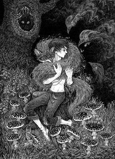 Magic Fox by Julia Vysotskaya, via Behance