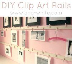 kid art projects, girl room, kids artwork, clip art, artwork display, art displays, display photo, ana white, art walls