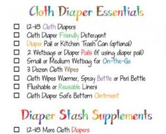 cloth diapers essentials list