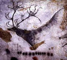 The Painted Gallery of Lascaux, France, is filled with colorful renderings of animals and people painted about 17,000 years ago