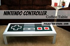 only the BEST coffee table. ever!  Polish The Stars: Nintendo Controller Coffee Table