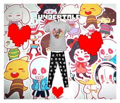 """""""Undertale Outfit"""" by thephandomhomepage ❤ liked on Polyvore"""