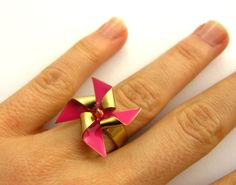 Pick Your Pinwheel Silver or Gold Ring // di virginiemillefiori