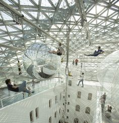 'bubble architect' Tomas Saraceno: In Orbit installation, Dusseldorf Germany 2013 #architecture #art