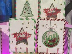 Stamp with Susie: Christmas Shaker cards!