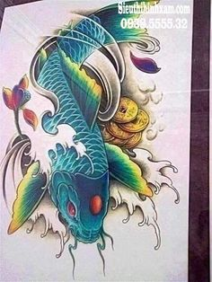 Their spectacular colors and patterns are part of the reason that koi fish are loved today and treasured by their owners. Colors of a koi fish should be bright. Japanese Tattoo Art, Japanese Tattoo Designs, Japanese Art, Pez Koi Tattoo, Koi Tattoo Sleeve, Koi Tattoo Design, Tatoo Designs, Ocean Tattoos, Baby Tattoos