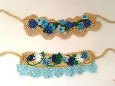 Crochet bracelet; my work :)