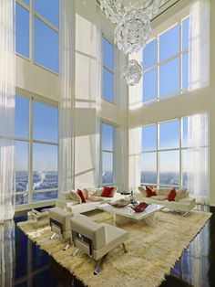 Ultra Luxury Design: A Billionaires Penthouse In New York - Luxury Homes New York Penthouse, Duplex New York, Luxury Penthouse, Penthouse Apartment, Luxury Condo, Luxury Homes, Manhattan Penthouse, Luxury Decor, Tower Apartment
