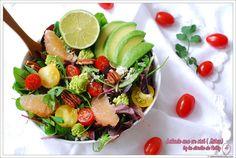 Salade avocat, pamplemousse, tomates cerise détox