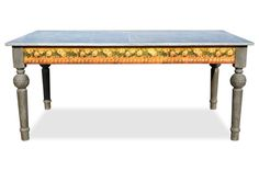 One of our favorite dining tables has finally joined the Fabulous & Baroque product line! Our Flora French Provincial Dining Table is sturdy and extremely supportive, this wooden table mixes things up with a tin metal top, fabulous floral design on the sides, and perfectly distressed legs. Make this incredible addition to your home to accent the room of your choice! #Fabulous&Baroque
