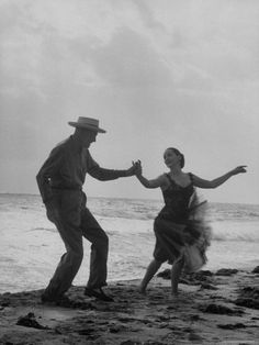 Romance = Rumba on the beach! Rumba danced by Director George Abbott and Dance Teacher Lilyan Martin. Shall We Dance, Lets Dance, Tango, Day Of Dead, Dance Like No One Is Watching, Dance Movement, Louise Hay, Dance Teacher, Dance Lessons