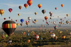 We hope to go to the International Balloon Fiesta in Albuquerque.  Over 700 hot air balloons - can you imagine?