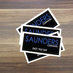 Saunders Carpentry Standard Vinyl Stickers Size 75x30mm  #ozstickerprinting #standardvinylstickers #vinylstickers #vinylprinting #outdoorstickers #austickers #stickerau #stickerprinting #sydneystickers