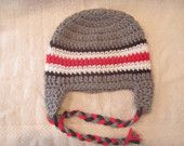 Newborn Ohio State Football hat. For the next baby!