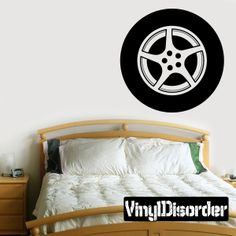 Tire Rim Wall Decal - Vinyl Decal - Car Decal - DC002