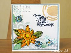 A card for my friend with Claudine Hellmuth's stamps.