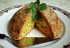 meatloaf with vegetables! Croatian Recipes, Hungarian Recipes, Hungarian Food, Meatloaf, Starters, Baked Potato, Entrees, Banana Bread, Vegetables