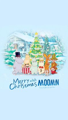 Moomin Wallpaper, Iphone Wallpaper, Winter Wallpaper, Christmas Wallpaper, Moomin Mugs, Tove Jansson, Moomin Valley, Poster Drawing, Christmas Cartoons