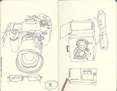 Low fi sketchbook work by Wil Freeborn. I really like the free-flow, doodle like response in this piece.