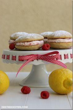 Raspberry Lemon Whoopie Pies: the perfect summer dessert (from 2 Sisters 2 Cities)