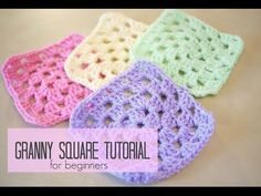 CROCHET: How to crochet a granny square for beginners, Bella Coco, My Crafts and DIY Projects                                                                                                                                                                                 More