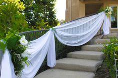 wedding drapery railings - Google Search