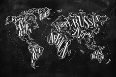 This stunning, decorative wallpaper piece is flattering on any wall, and brings any room to life through a unique and modern design. The Chalkboard Typography World Map Wall Mural is particularly perfect for kitchens, offices and dining rooms, with its interesting and fun style.