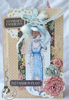 Scraps of Life: Graphic 45 A Ladies' Diary Mini Album-interesting pages