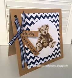 "hello, baby ... welcome to the world! - ""Baby Bear"", Stampin' Up! - baby card"