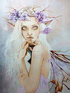 Elf lady WIP by Hollow-Moon-Art on deviantART