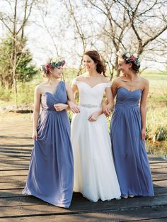 Photography : Sheradee Hurst Photography | Bridesmaids Dresses : Bill Levkoff | Wedding Dress : Allure Read More on SMP: http://www.stylemepretty.com/oklahoma-weddings/edmond/2015/06/02/lovely-lavender-wedding-inspiration/