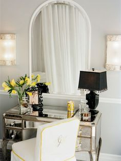 Makeup Table Design, Pictures, Remodel, Decor and Ideas - page 18...  Love this table!
