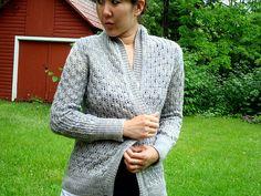 ecbdb965fff44e Ravelry  Pomme de pin Cardigan pattern by Amy Christoffers Lace Knitting