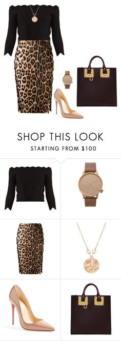 """Sem título #2378"" by mprocedi ❤ liked on Polyvore featuring Alexander McQueen, Komono, Altuzarra, Gucci, Christian Louboutin and Sophie Hulme"