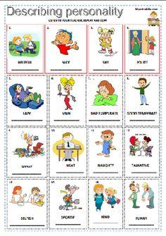 qualifyingadjectives Peanuts Comics, Primary English
