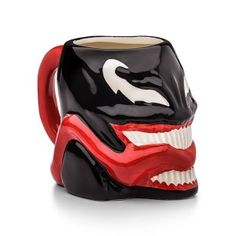 Officially Licensed Marvel Superhero Molded Mugs - Thor Spiderman Carnage Venom (Venom) Character Molded Face Mug Marvel Offically Licensed Holds Hand painted with great detail Handwash only, DO NOT MICROWAVE Disney Coffee Mugs, My Coffee, Disney Mugs, Marvel Venom, Marvel Comics, Venom Character, Venom Costume, Spiderman, Colors