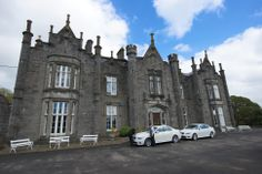 Dramatic front view shot Belleek Castle, Ballina, Cou. Mayo Ireland