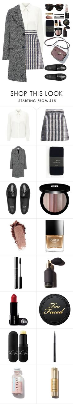 """""""Tweedle dee."""" by krys-imvu ❤ liked on Polyvore featuring Eastex, Miu Miu, Carven, J.Crew, FitFlop, Max&Co., Edward Bess, Butter London, Bite and MAC Cosmetics"""