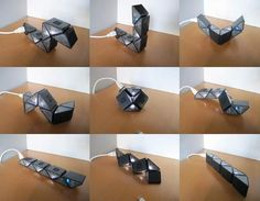 TwistVolt, An Origami Power Strip That Twists to Avoid Blocking Outlets