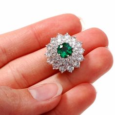 GIA 6.00cts Rare GEM Colombian Emerald Platinum by DoverJewelry