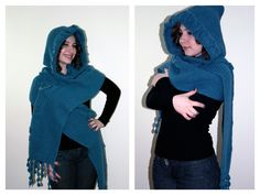 Winter Accessories Knit  Hood  Scarf   Shawl in by KnitAndWedding, $99.00