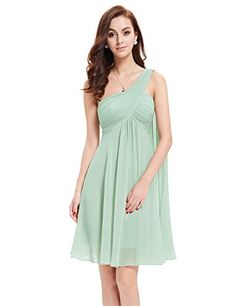 Ever Pretty NWT One Shoulder Ruffles Padded Bridesmaid Dress 03537 -- Click on the image for additional details.