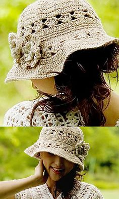 """Free pattern for """"Pastel Color Nep Hat"""" by Pierrot (Gosyo Co., Ltd)!."""