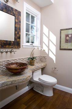 West Menlo Park - transitional - Powder Room - San Francisco - B.L.Builders, Inc
