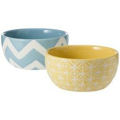Threshold™ Patterned Ceramic Dip Bowls Set of 2 - Blue and Yellow