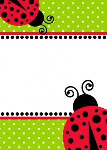 free download ladybug birthday invitation template plus more party