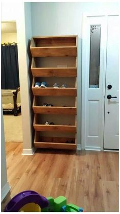 home decor for small spaces 27 Cool amp; Clever Shoe Storage Ideas for Small Spaces - Simple Life of a Lady Diy Shoe Storage, Diy Shoe Rack, Shoe Racks, Cheap Storage, Shoe Cubby, Small Space Shoe Storage, Cubby Storage, Bedroom Storage, Entryway Shoe Storage