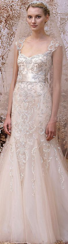 Monique Lhuillier Bridal Fall 2014 at Solutions Bridal #wedding #dresses.